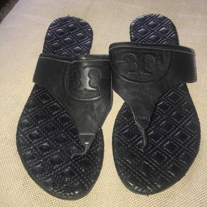 Tory Burch Fleming Sandal Black Size 9